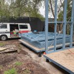 steel frame kit subfloor for backyard pods by BRIbuild
