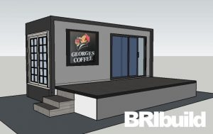 Container Coffee Shop desighned by Bribuild