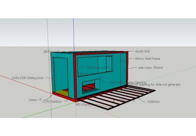 Bribuild - Steel framing design for a roadside coffee house