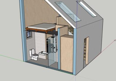 Bribuild concept for backyard pod in Fitzroy Melbourne