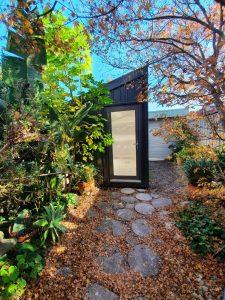 Backyard pod art studio in Richmond